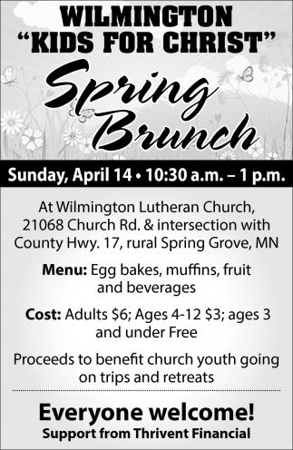 Kids for Christ Spring Brunch