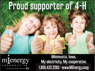 Proud Supporter of 4-H!