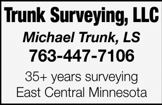 35+ years Surveying East Central Minnesota