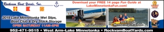 2019 Lake Minnetonka Wet Slips, Boat Club & Dry Stack Storage