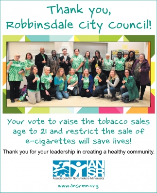 Thank You, Robbinsdale City Council!