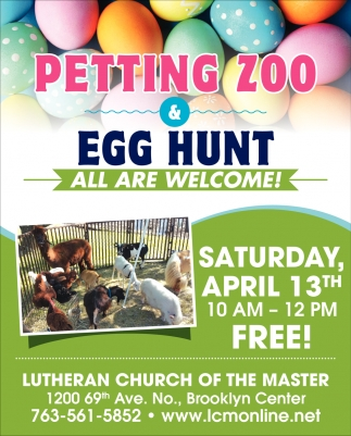 Petting Zoo & Egg Hunt