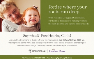 FREE Hearing Clinic!