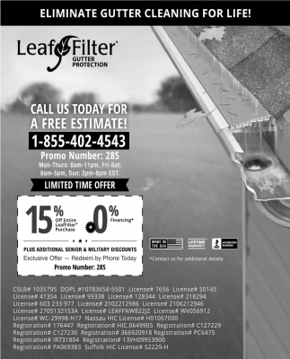 Eliminate Gutter Cleaning for Life!