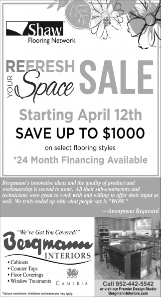 Your Refresh Space Sale