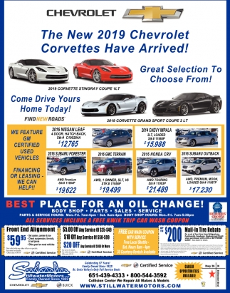 The New 2019 Chevrolet Corvettes Have Arrived!