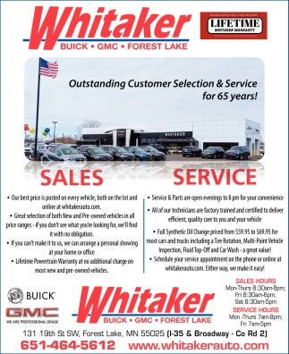 Outstanding CustomerSelection & Service for 65 Years!