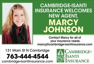Cambridge-Isanti Insurance Welcomes New Agent, Mercy Johnson