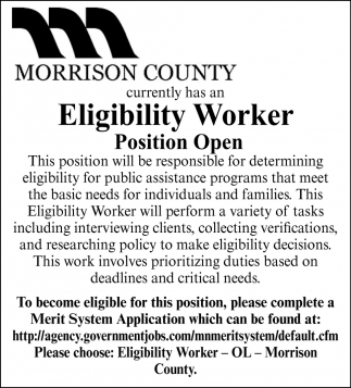Eligibility Worker