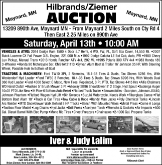 Hilbrands/ Ziemer Auction