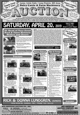 Dairy Cattle & Farm Machinery Auction