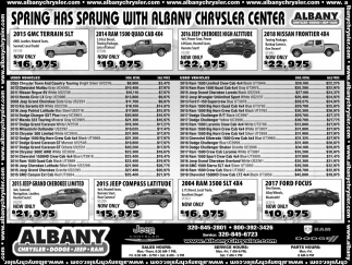 Spring Has Sprung with Albany Chrysler Dodge Jeep Ram!