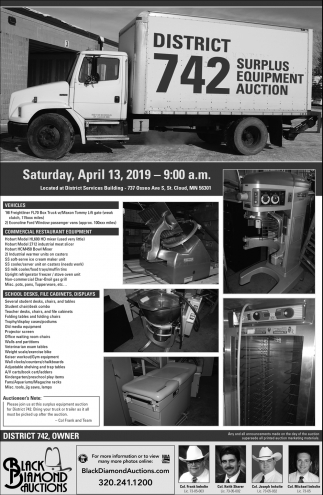 District 742 Surplus Equipment Auction