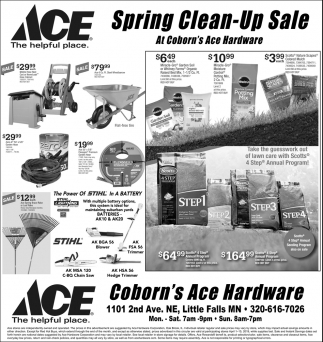 Spring Clean-Up Sale