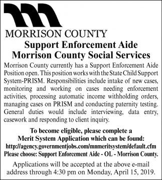 Support Enforcement Aide