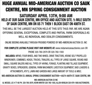 MN Spring Cosignment Auction