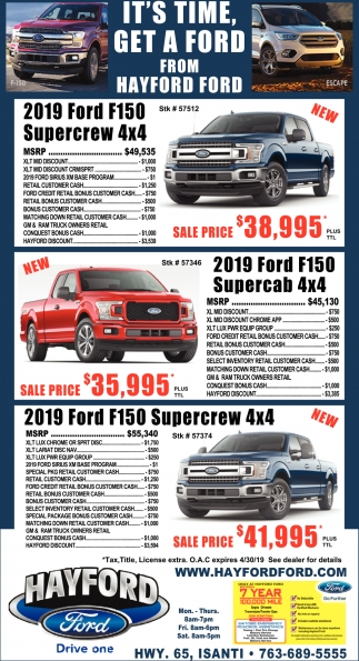 It's Time, Get a Ford from Hayford Ford
