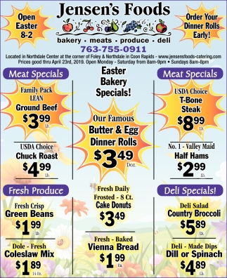 Easter Bakery Specials!