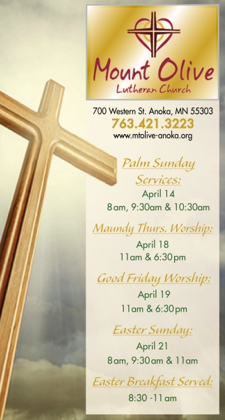Palm Sunday Services