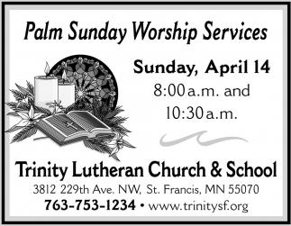 Palm Sunday Worship Services