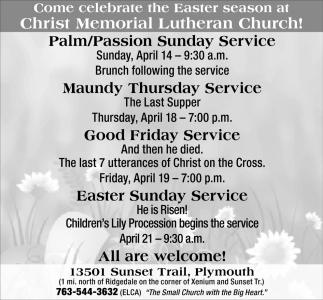 Palm/Passion Sunday Service