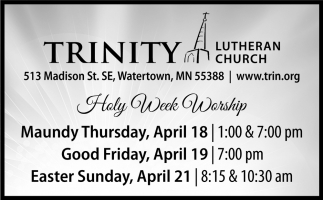Holy Week Worship