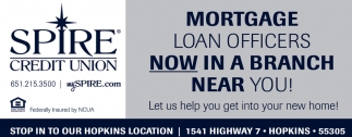 Mortgage Loan Officers Now in a Branch Near You!