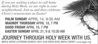 Journey Through Holy Week With Us