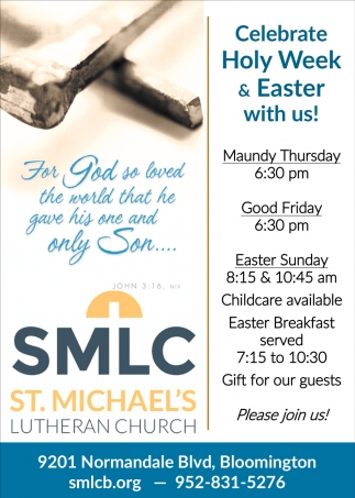 Celebrate Holy Week & Easter with Us!