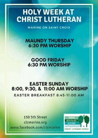 Holy Week at Christ Lutheran