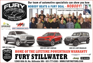 Home of the Lifetime Powertrain Warranty