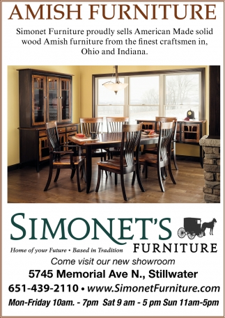Amish Furniture Simonet S Furniture Stillwater Mn