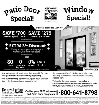 Patio Door & Window Special!
