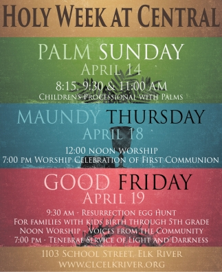 Holy Week at Central