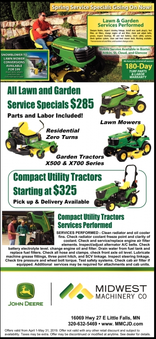 Spring Service Specials Going On Now!