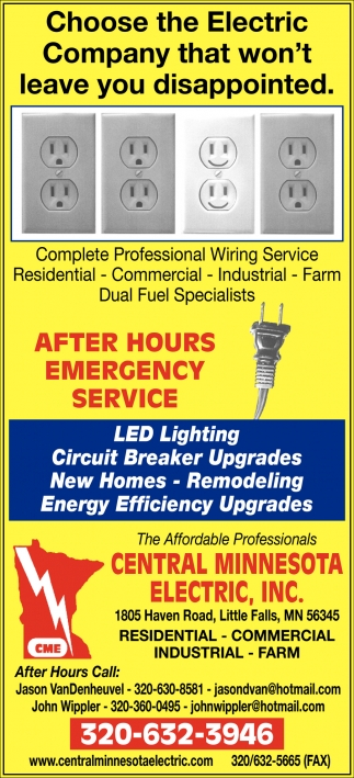 Choose the Electric Company that Won't Leave You Disappointed