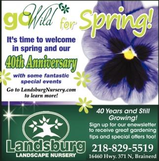 Go Wild for Spring!