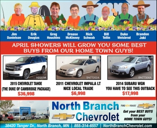 April Showers Will Grow You Some Best Buys from Our Home Town Guys!