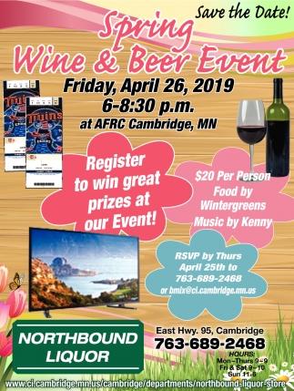 Spring Wine & Beer Event