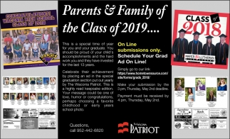 Parents & Family of the Class of 2019...