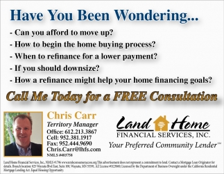 Call me Today for a FREE Consultation
