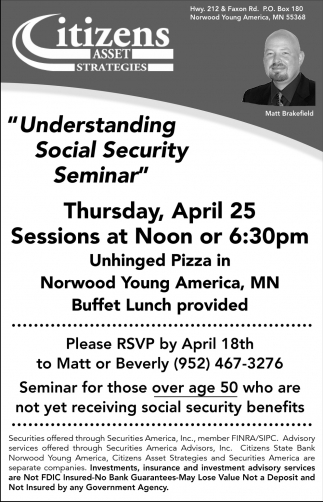 Understanding Social Security Seminar